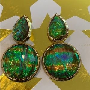 Gorgeous iridescent statement earrings
